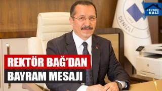 PAÜ Rektörü Hüseyin Bağ'dan Bayram Mesajı