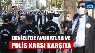 Denizli'de Avukatlar ve Polis Karşı Karşıya