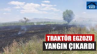 Traktör Egzozu Yangın Çıkardı