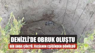 Çivril Yaylacık Mahallesi'nde devasa obruk