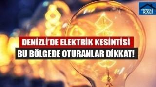 Denizli elektrik kesintisi (15 Eylül 2020)