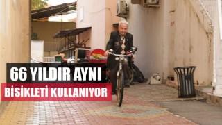 66 yıldır aynı bisikleti kullanıyor