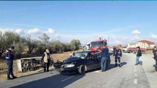 Afyonkarahisar'da Trafik Kazası: 2 Kişi Yaralandı
