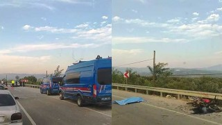 Akhisar'da otomobil ile motosiklet çarpıştı: 1 ölü