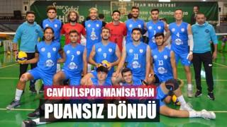 Cavidilspor Manisa'dan Puansız Döndü