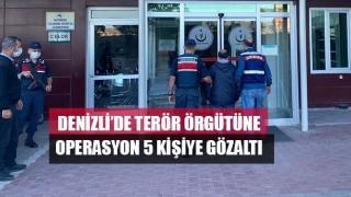 Denizli'de Terör Örgütüne Operasyon 5 Kişiye Gözaltı