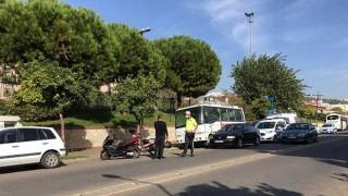Efeler'de trafik kazası: 1 kişi yaralı