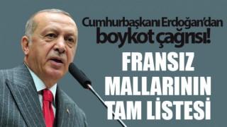 Türkiye'de satılan Fransız mallarının tam listesi;