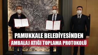 Pamukkale Belediyesinden Ambalaj Atığı Toplama Protokolü