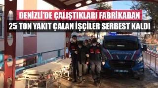 Denizli'de Çalıştıkları fabrikadan 25 ton yakıt çalan işçiler serbest bırakıldı