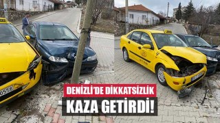 Denizli'de dikkatsizlik Kaza Getirdi!.