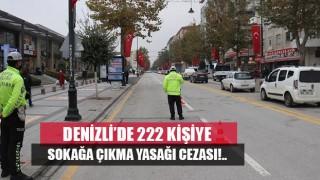 Denizli'de 222 kişiye korona cezası