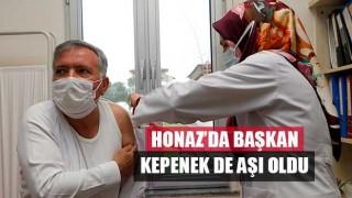 Honaz'da Başkan Kepenek de Aşı Oldu