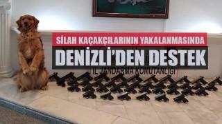 Silah kaçakçılarının yakalanmasında Denizli'den destek