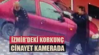 İzmir'deki sokak ortasındaki korkunç cinayet kamerada