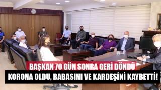Acıpayam Belediye Başkanı Şevkan, 70 gün sonra görevine geri döndü