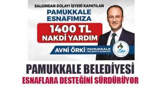 Pamukkale Belediyesi Esnaflara Desteğini Sürdürüyor