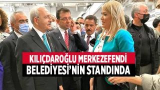 CHP Lideri Kılıçdaroğlu Merkezefendi Belediyesi'nin Standında