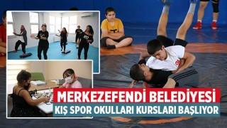 Merkezefendi Belediyesi Kış spor okulları kursları başlıyor