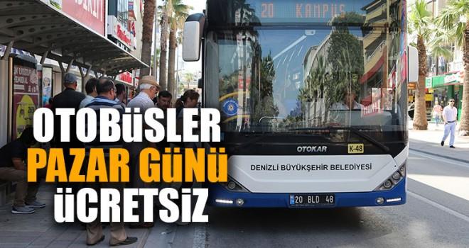 Otobüsler Pazar Günü Ücretsiz