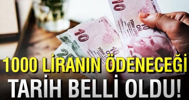 Emeklilere 1000 lira ikramiyenin ne zaman ödeneceği belli oldu!