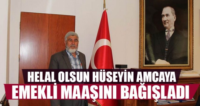 Emekli Maaşını Mehmetçik Vakfı'na Bağışladı