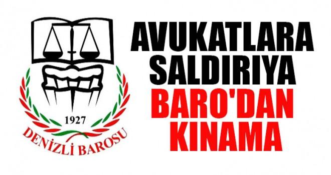 Avukatlara Saldırıya Baro'dan Kınama