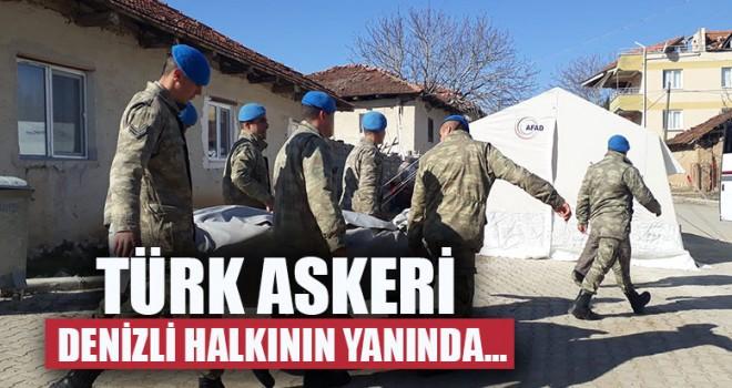 Türk Askeri Denizli Halkının Yanında…