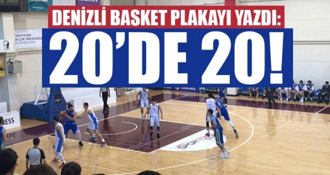 Merkezefendi Belediyesi Denizli Basket Plakayı Yazdı: 20'de 20!