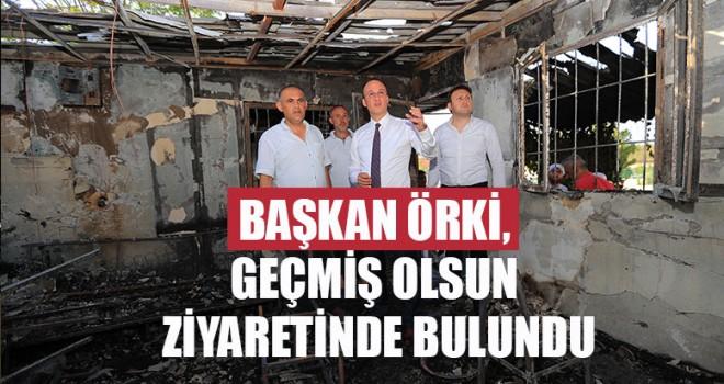 Başkan Örki, Geçmiş Olsun Ziyaretinde Bulundu