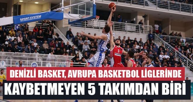 Denizli Basket, Avrupa Basketbol Liglerinde Kaybetmeyen 5 Takımdan Biri