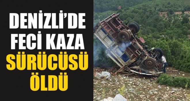 Denizli'de Feci Kaza Sürücüsü Öldü