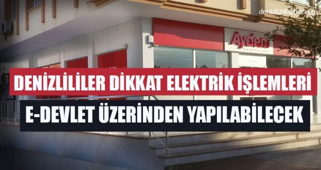 Elektrik İşlemleri e-Devlet Üzerinden Yapılabilecek