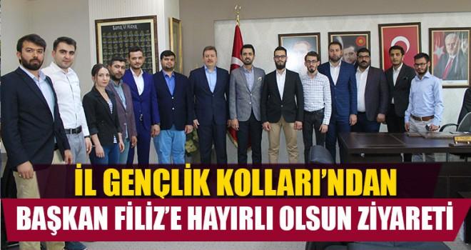 AK Parti İl Gençlik Kolları'ndan Başkan Filiz'e Hayırlı Olsun Ziyareti
