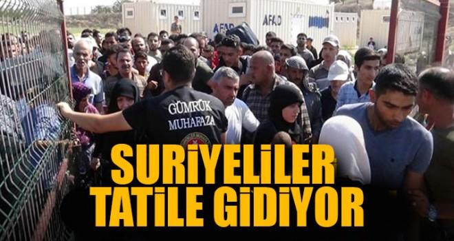 Suriyeliler Tatile Gidiyor