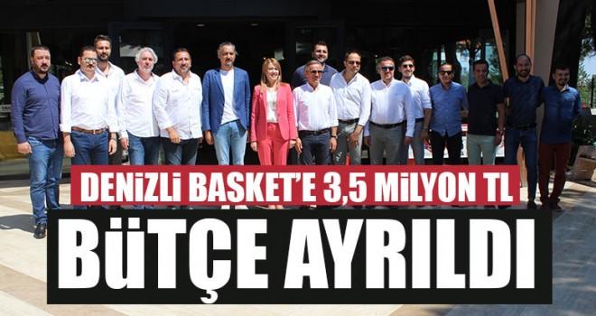 Denizli Basket'e 3,5 Milyon TL Bütçe Ayrıldı