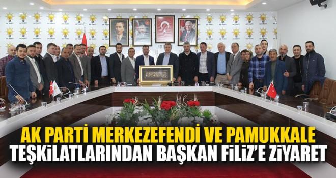 Ak Parti Merkezefendi Ve Pamukkale Teşkilatlarından Başkan Filiz'e Ziyaret