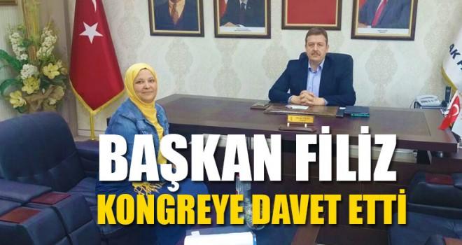 Başkan Filiz Kongreye Davet Etti