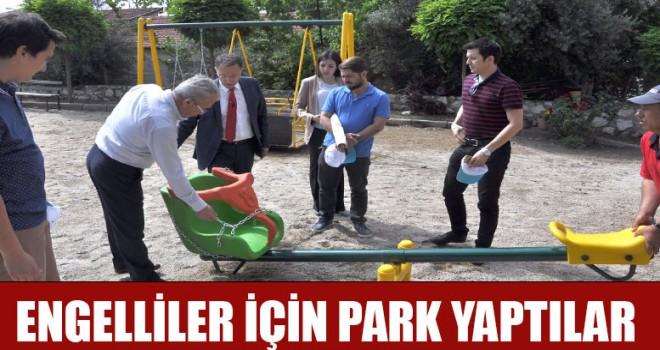 Engelliler İçin Park Yaptılar