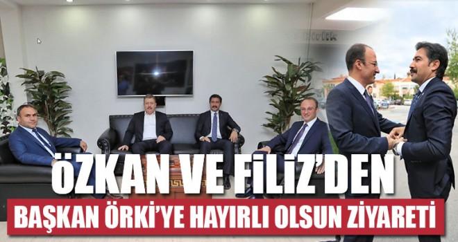 Özkan ve Filiz'den Başkan Örki'ye Hayırlı Olsun Ziyareti